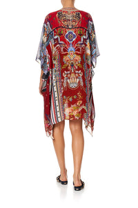CAMILLA LACE UP KAFTAN WITH INSERT TRIM COSTUME PARTY