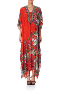 LACE UP KAFTAN WONDERING WARATAH