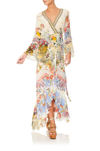 LADY LABYRINTH LONG SLEEVE WRAP DRESS