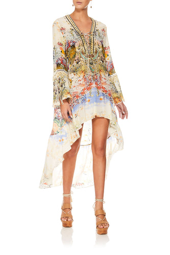 CAMILLA LADY LABYRINTH SHORT DRESS W HIGH LOW HEM