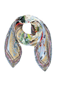 CAMILLA THE STILL ABYSS LARGE SQUARE SCARF