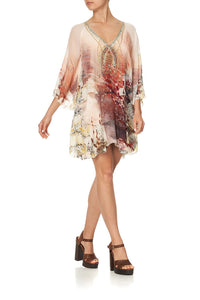 LAYERED FRILL SHORT DRESS COASTAL TREASURE