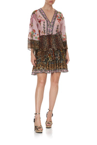 LAYERED FRILL SKIRT WILD AZAL