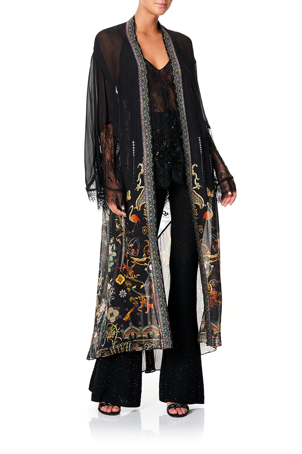 CAMILLA LAYERING ROBE WITH LACE INSERT REBELLE REBELLE