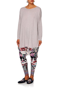 CAMILLA IN HER SHOES LONG SLEEVE JUMPER W PRINT BACK