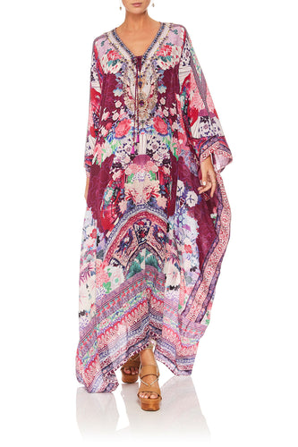 CAMILLA LITTLE OSAKA GIRL SPLIT HEM LACE UP KAFTAN