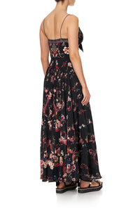 LONG DRESS WITH TIE FRONT A GIRL LIKE YOU