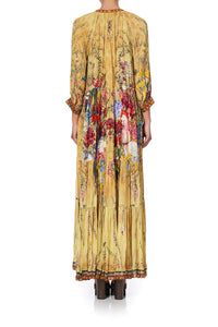 LONG GATHERED PANEL DRESS AMONG THE GUMTREES