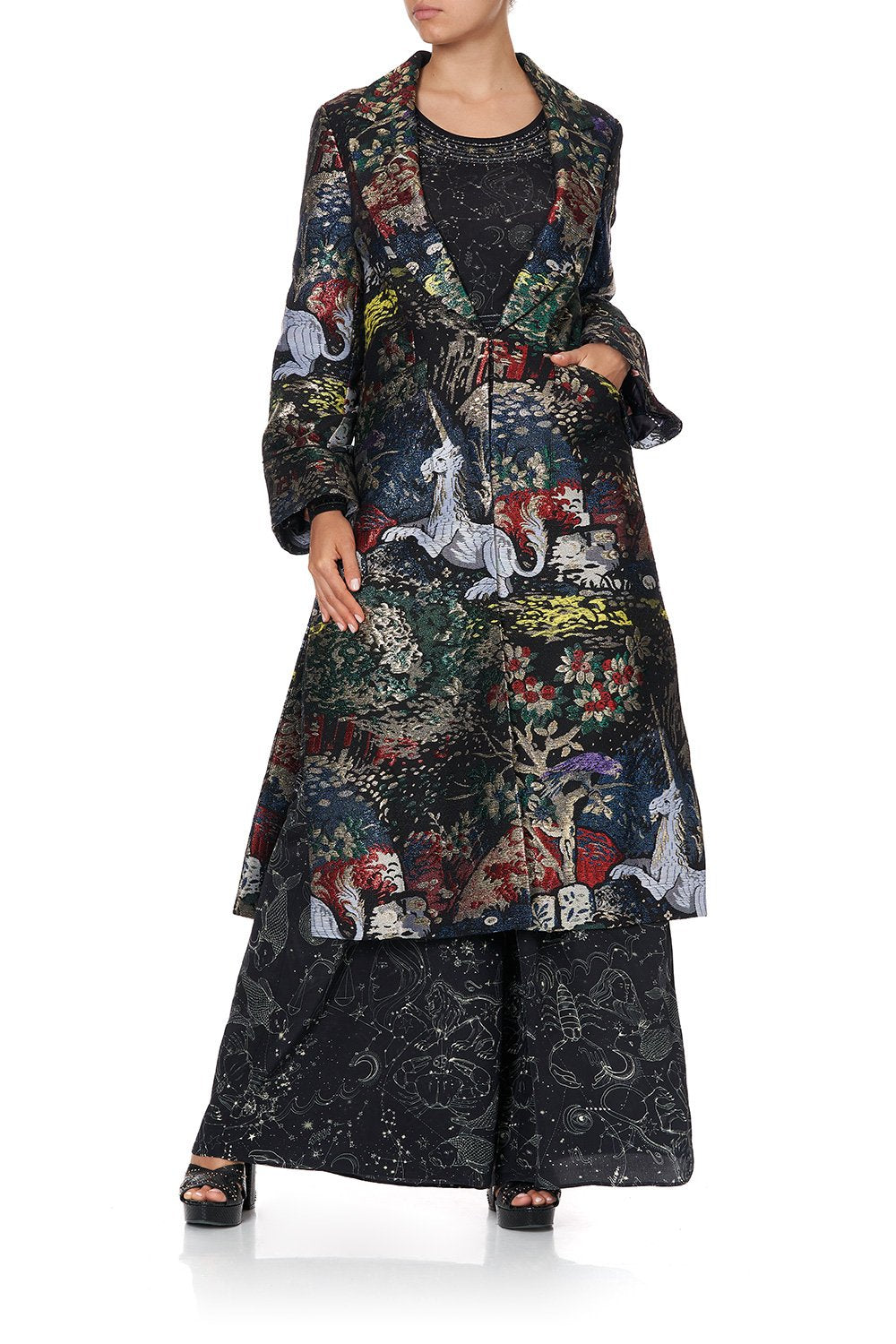 LONG JACKET WITH SIDE SPLITS MIDNIGHT MOON HOUSE