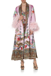 LONG ROBE WITH FLARED SLEEVE ZIBA ZIBA