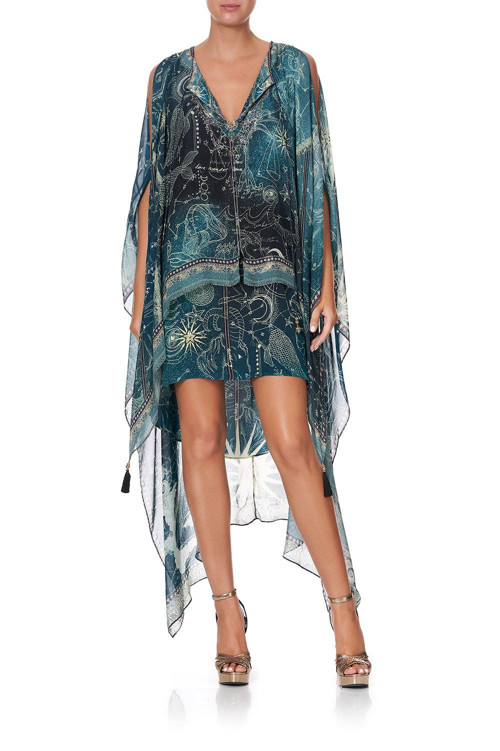 LONG SHEER OVERLAY DRESS INTO THE MYSTIQUE