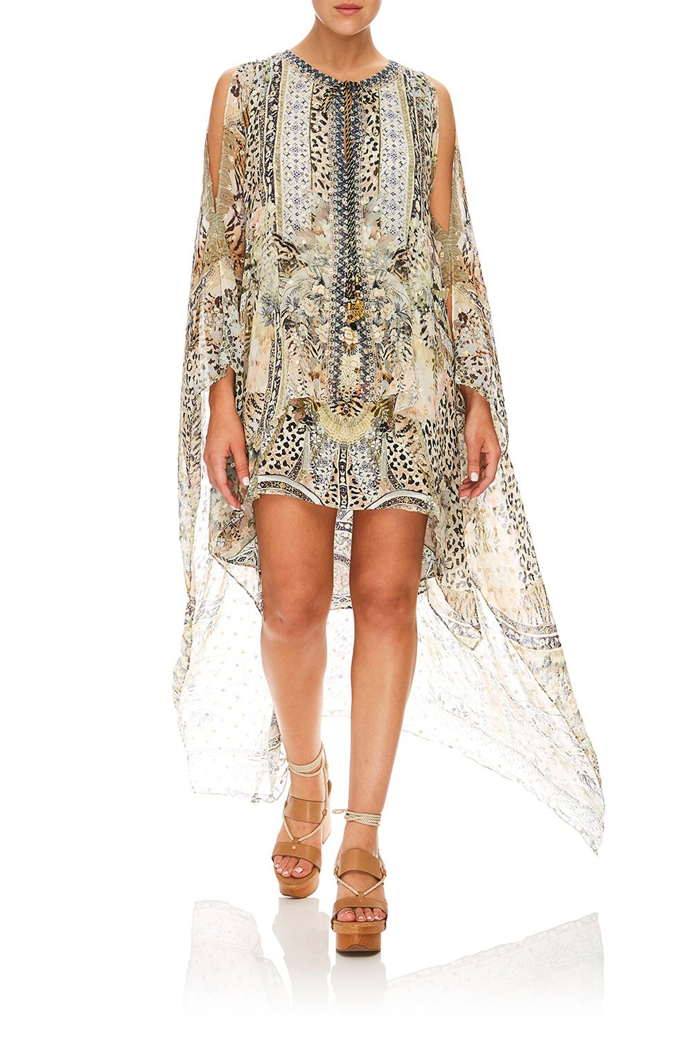CAMILLA LONG SHEER OVERLAY DRESS MOTO MAIKO