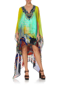 LONG SHEER OVERLAY DRESS SOUTHERN MERMAID