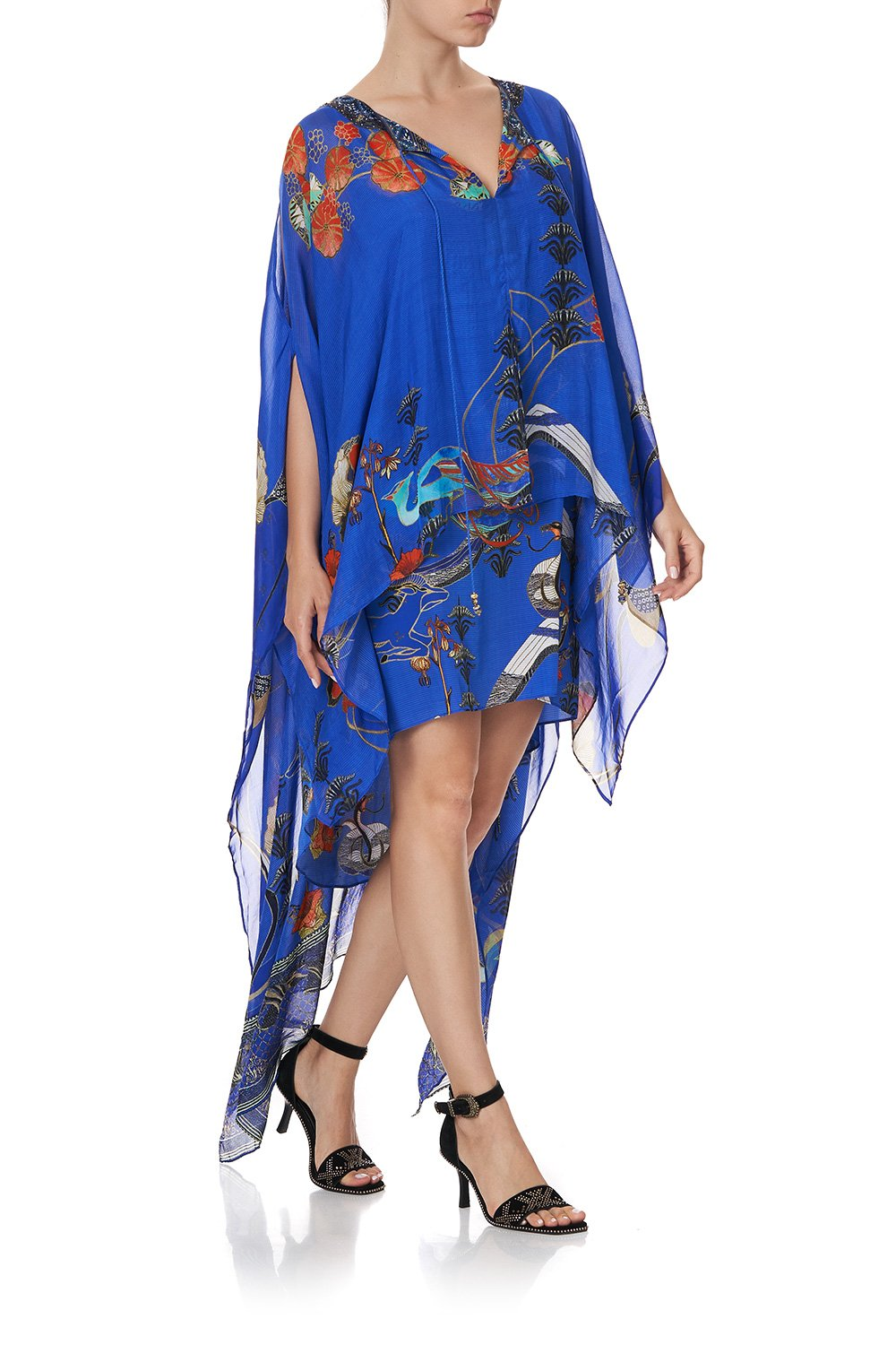 LONG SHEER OVERLAY DRESS TREE OF LIFE