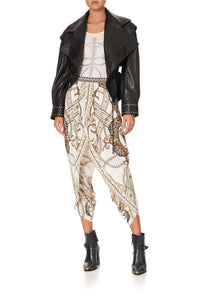 GATHERED WRAP FRONT TROUSER MIND YOUR MANOR