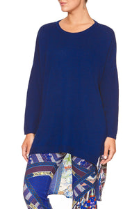 LONG SLEEVE JUMPER WITH PRINT BACK DARLING'S DESTINY