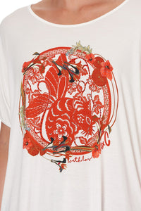 LOOSE FIT ROUND NECK TEE FORBIDDEN FRUIT