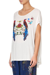 LOOSE FIT TEE WINGS IN ARMS