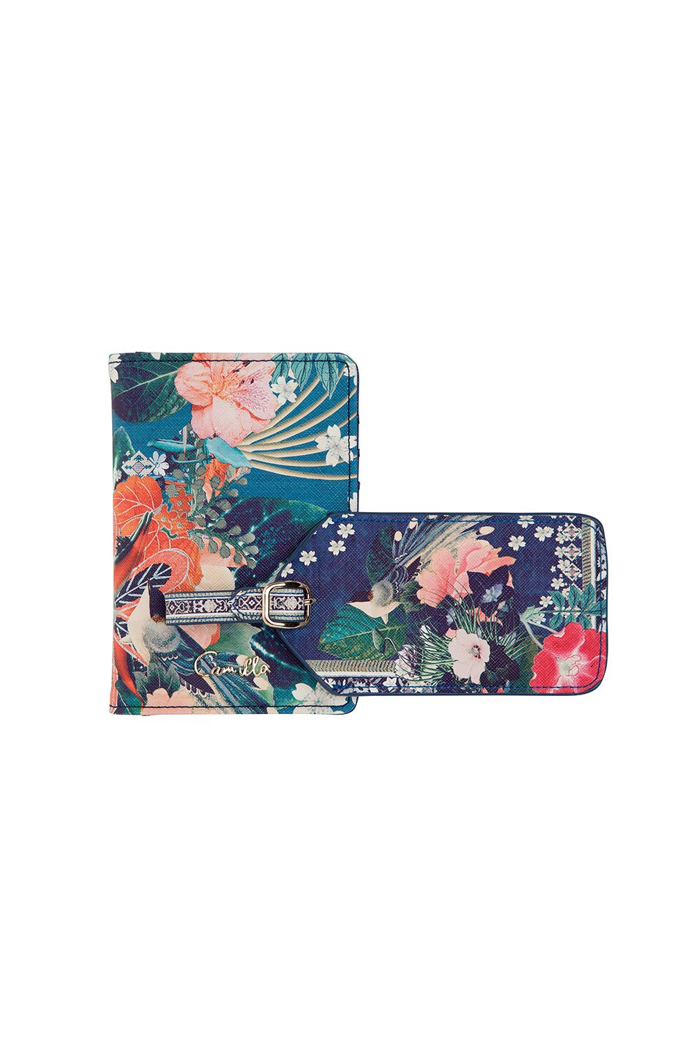 LUGGAGE TAG & PASSPORT WALLET FARAWAY FLORALS
