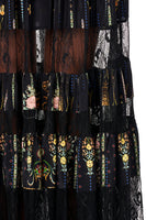 CAMILLA MAXI SKIRT WITH LACE INSERTS REBELLE REBELLE