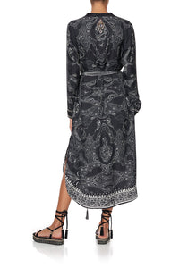 MID LENGTH SHIRT DRESS MIDNIGHT PEARL