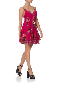 MINI DRESS WITH RUFFLE HEM APPLE EYED