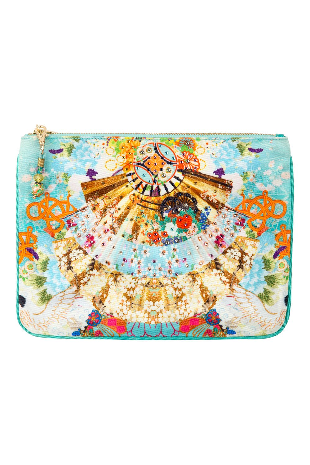 CAMILLA SMALL CANVAS CLUTCH RETRO'S RAINBOW