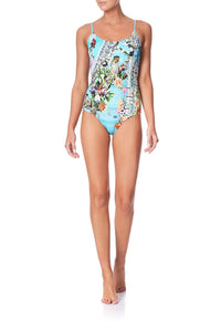 ROUND NECK ONE PIECE GIRL FROM ST TROPEZ