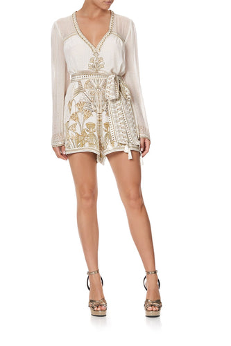 PANELLED PLAYSUIT WITH BELT THE QUEENS CHAMBER