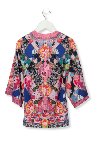 CAMILLA POSTCARDS FROM MARS KIDS KIMONO WRAP DRESS