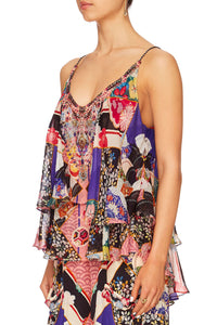 CAMILLA POSTCARDS FROM MARS DOUBLE LAYERED CAMI