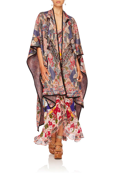 CAMILLA POSTCARDS FROM MARS OVERSIZED THROWOVER PONCHO