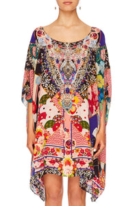 CAMILLA POSTCARDS FROM MARS SHORT ROUND NECK KAFTAN