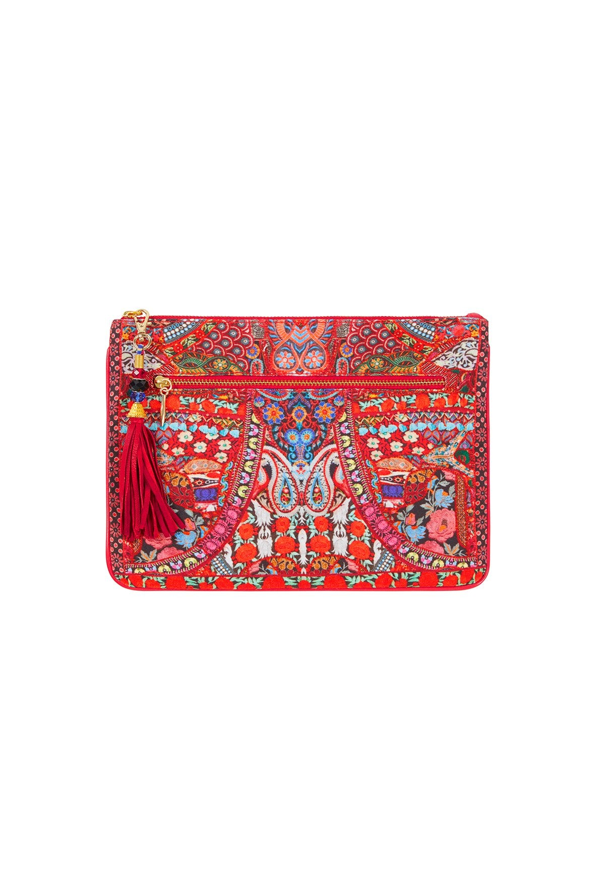 QUEEN ALIKA SMALL CANVAS CLUTCH
