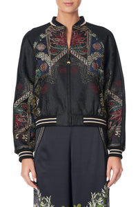 RAGLAN SLEEVE BOMBER JACKET BOTANICAL CHRONICLES