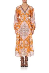 RAGLAN SLEEVE LACE UP DRESS MARRAKESH MAIDEN