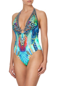 RING DETAIL PLUNGE V ONE PIECE REEF WARRIOR