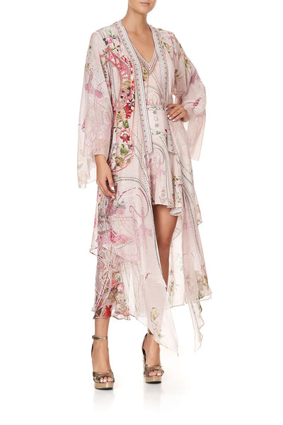 ROBE WITH DOUBLE LAYERED HEM ISTENANYA