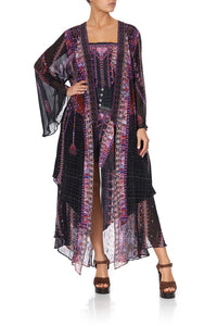 ROBE WITH DOUBLE LAYERED HEM MINA MINA