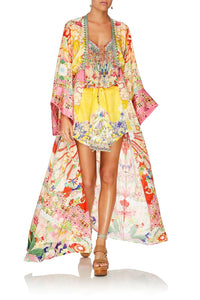 ROBE WITH ELASTIC BACK WAIST KIMONO KISSES