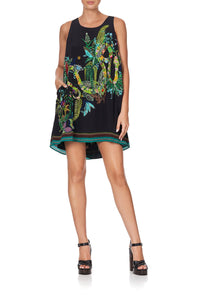 ROUND NECK A-LINE DRESS RIVER CRUISE
