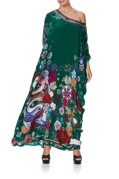 ROUND NECK KAFTAN EMERALD'S ORBIT