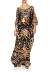 ROUND NECK KAFTAN FRIEND IN FLORA