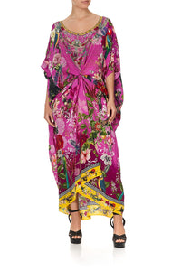 ROUND NECK KAFTAN JUNGLE LANGUAGE