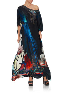 ROUND NECK KAFTAN NIGHT FLIGHT