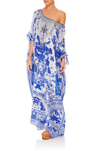CAMILLA ROUND NECK KAFTAN THE FAN SEA