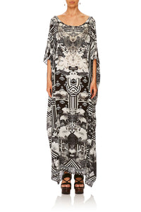 CAMILLA WILD MOONCHILD ROUND NECK KAFTAN