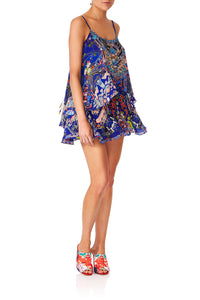 CAMILLA SATURN SISTER FLARED PLAYSUIT WOVER LAYER