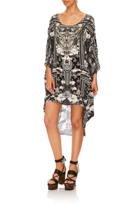 CAMILLA WILD MOONCHILD SCOOP BACK HEM DRESS