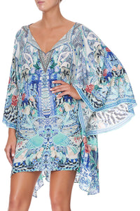 SHAPED HEM SHORT KAFTAN WINGS OF LUXOR